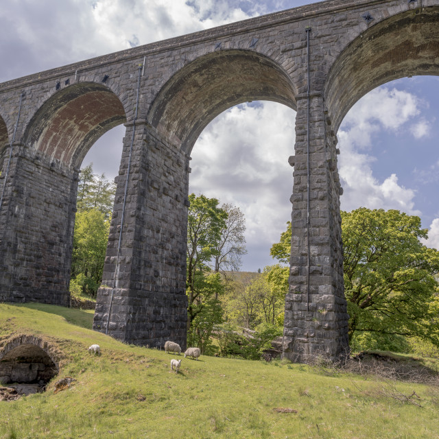 """Dent Head Viaduct in Yorkshire"" stock image"