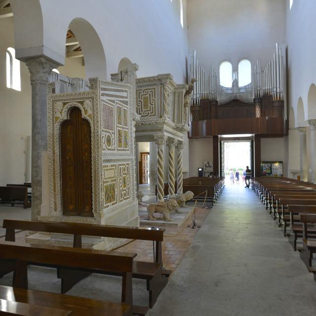 """Amalfitan coast, Ravello;the church, interior."" stock image"