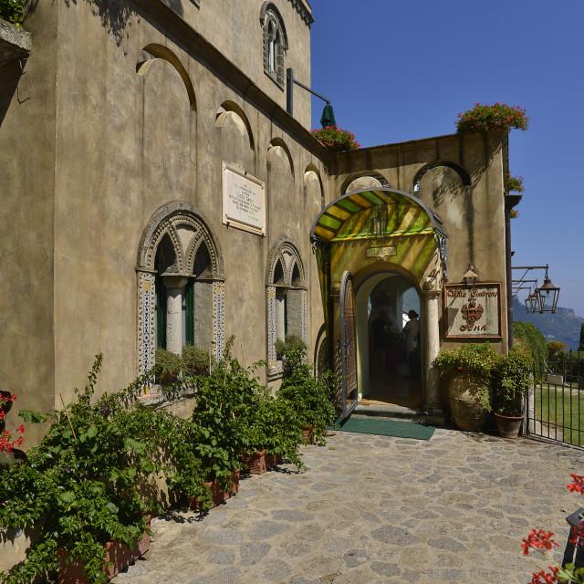 """Amalfitan coast, Ravello; hotel Villa Cimbrone"" stock image"