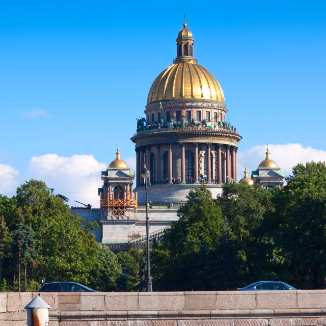 """Saint Isaac's Cathedral in St. Petersburg"" stock image"