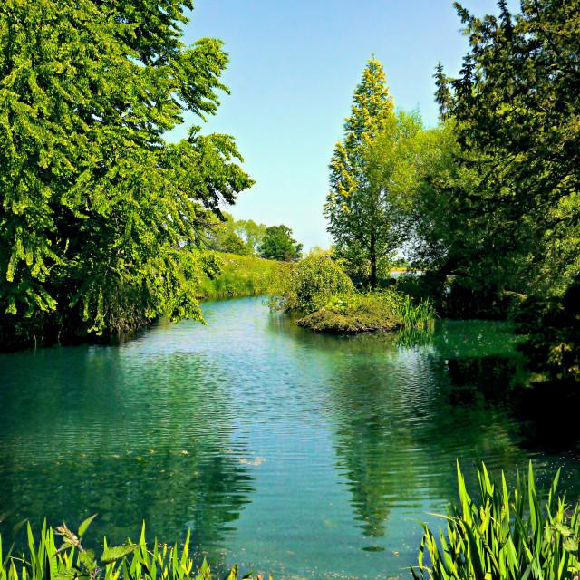 """Aqua Lake"" stock image"