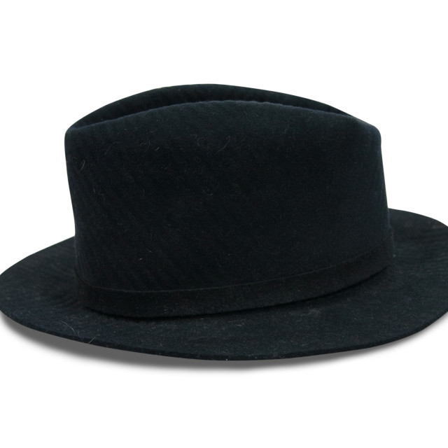 """Black fedora hat"" stock image"