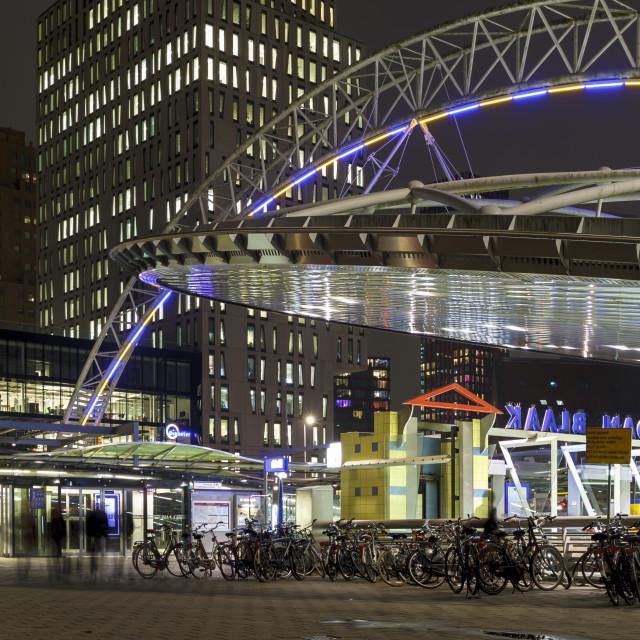 """Rotterdam metro station"" stock image"