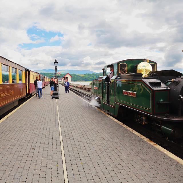 """Porthmadog Station"" stock image"