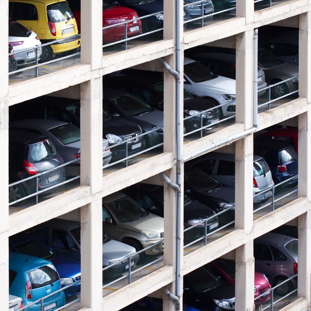 """multilevel parking place"" stock image"