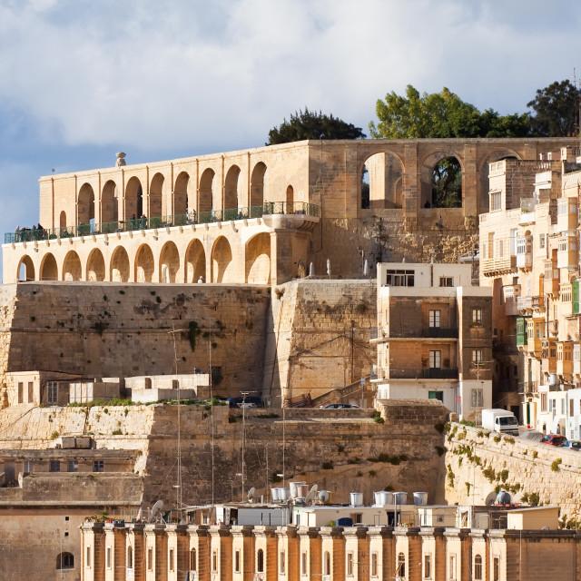 """Barrakka Gardens in Valletta"" stock image"