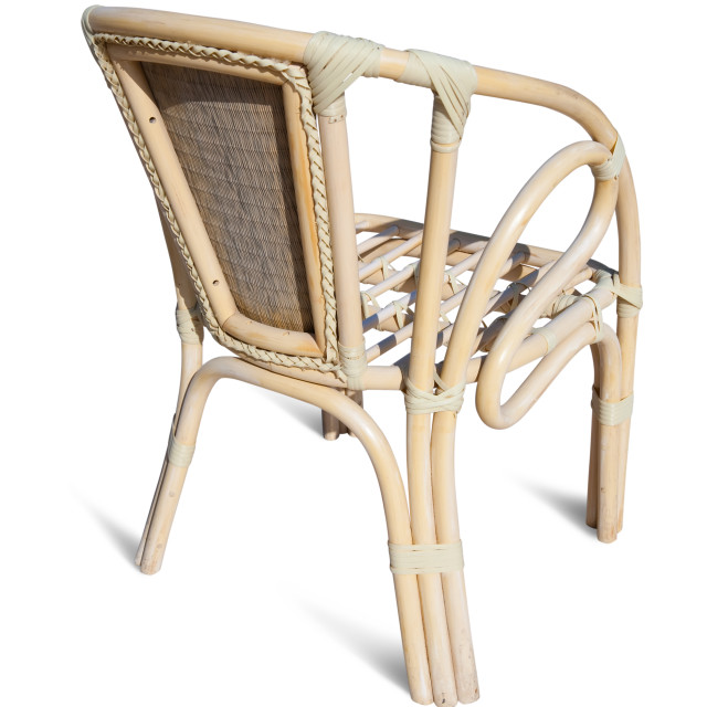 """wicker chair over white"" stock image"