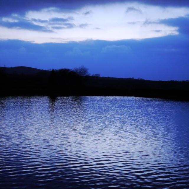 """Reservoir in winter"" stock image"