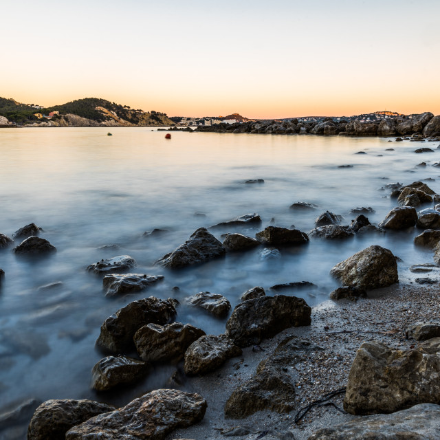 """A peaceful sunset in Paguera, Mallorca,"" stock image"