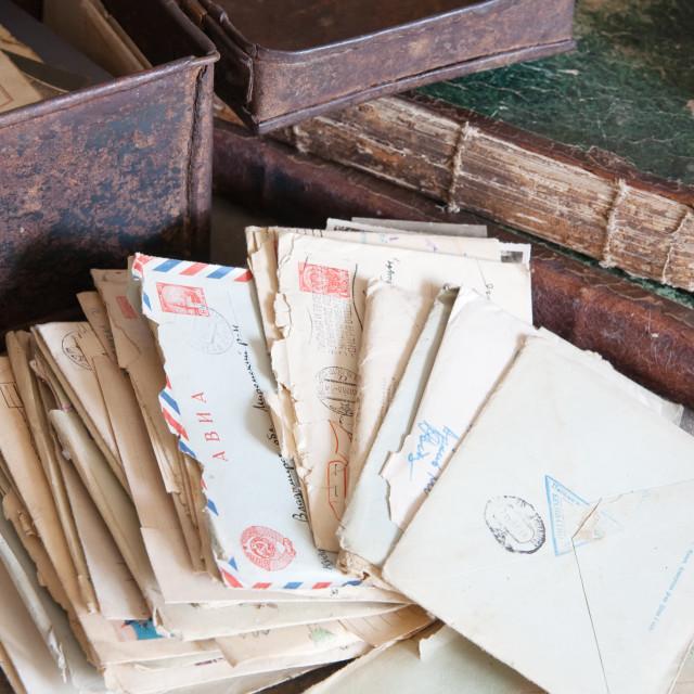 """vintage correspondence"" stock image"