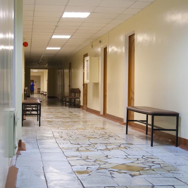 """corridor of hospital"" stock image"