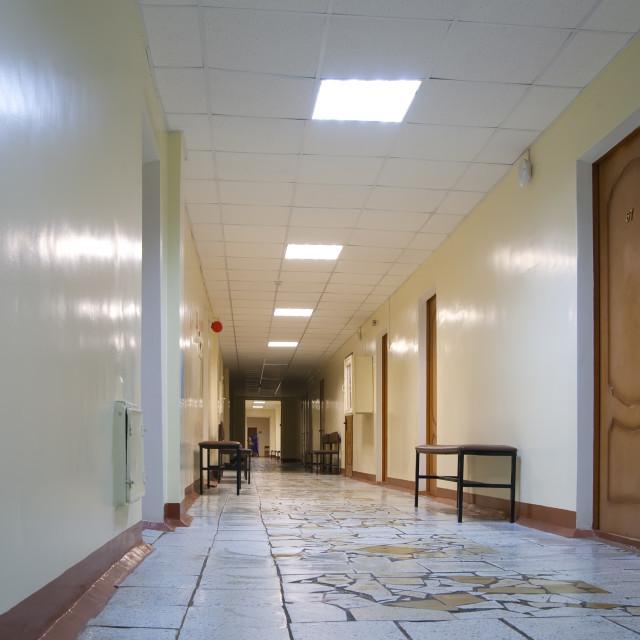 """hospital corridor"" stock image"