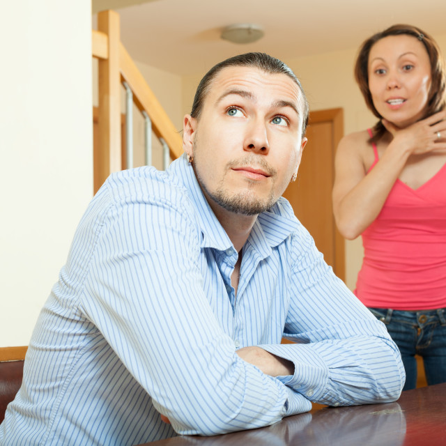 """""""Woman having problems with her husband"""" stock image"""