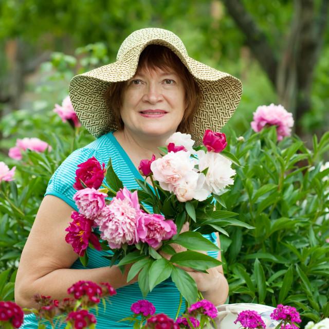 """""""Smiling female gardener"""" stock image"""