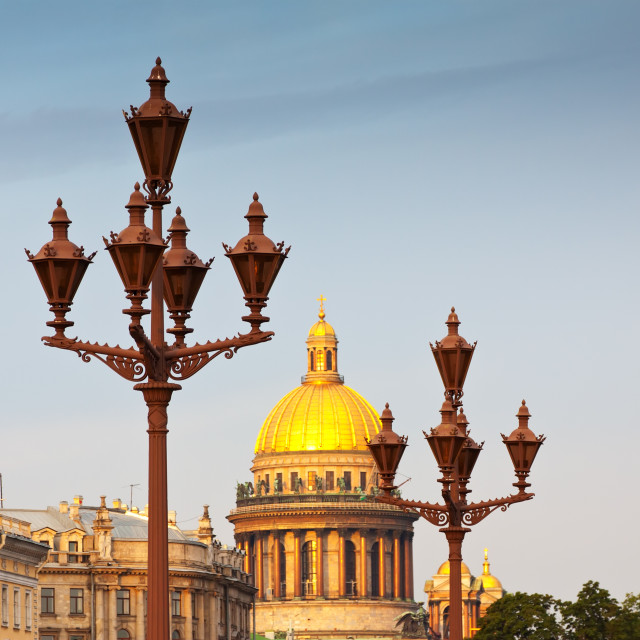 """Lamppost against Saint Isaac's Cathedral"" stock image"