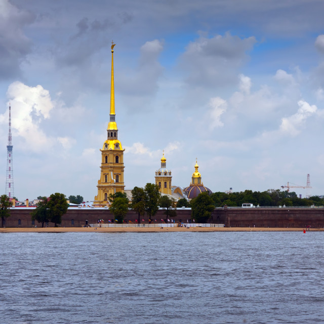 """""""Peter and Paul Fortress in summer day"""" stock image"""