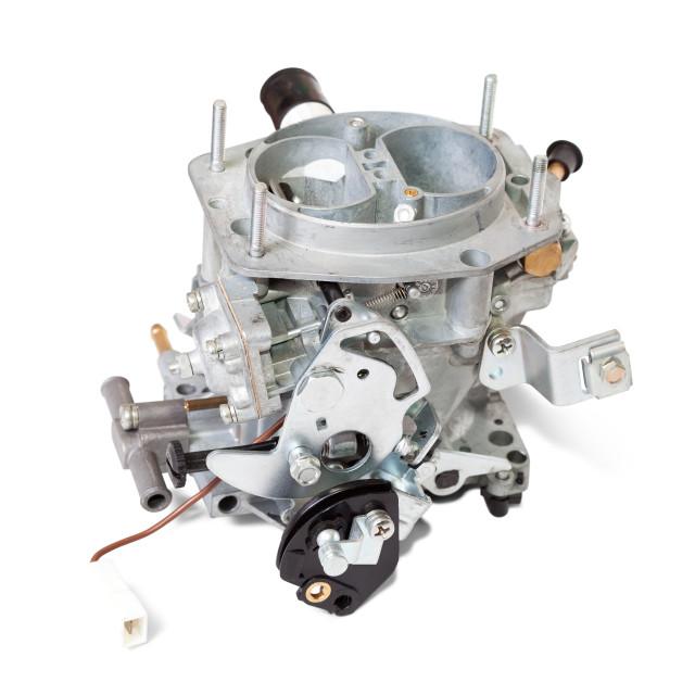 """""""New carburetor. Isolated on white"""" stock image"""