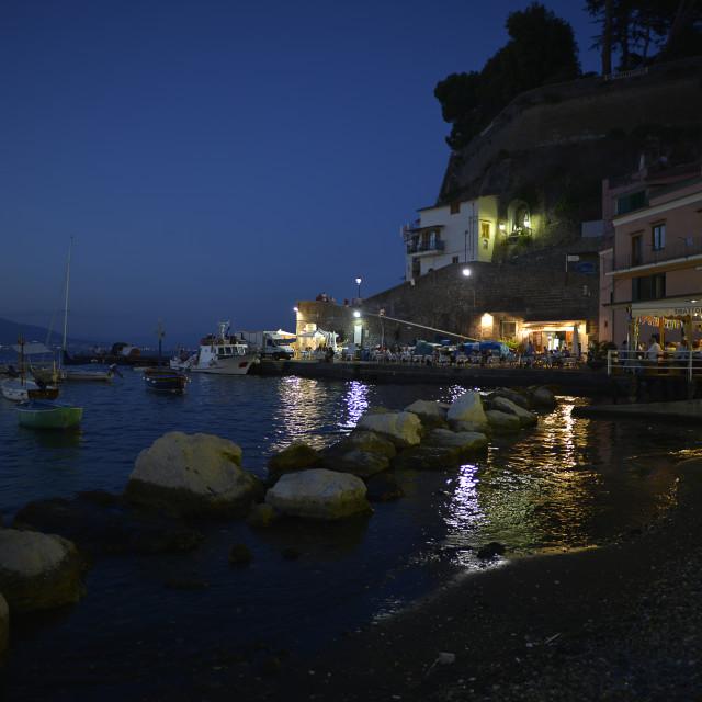 """Sorrento, Marina Grande."" stock image"