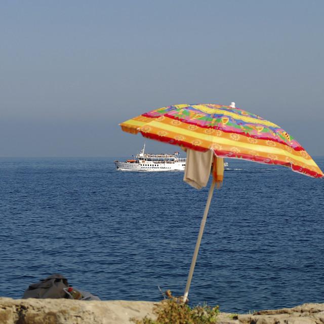 """""""Sorrento's beach"""" stock image"""