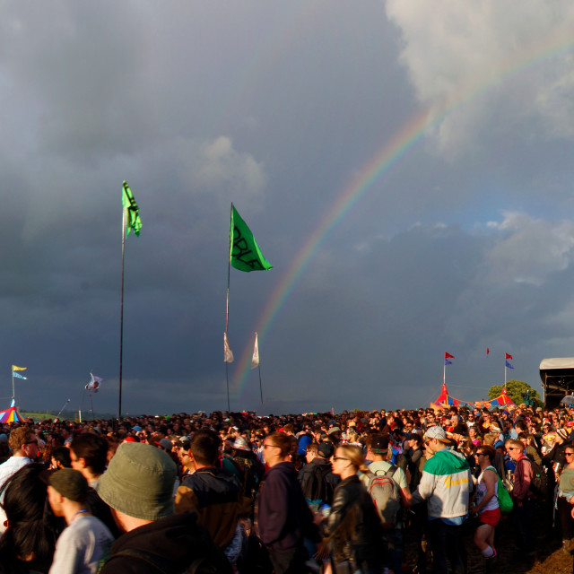 """Glastonbury Rainbow"" stock image"
