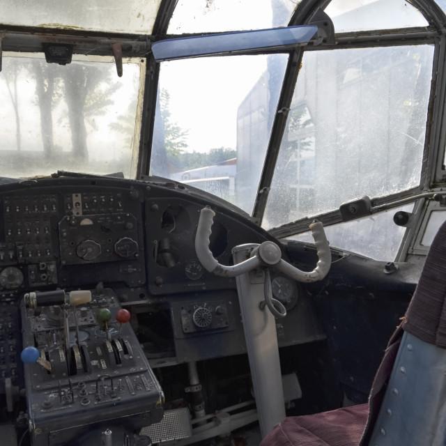 """Flight deck of a old Antonov An-2"" stock image"