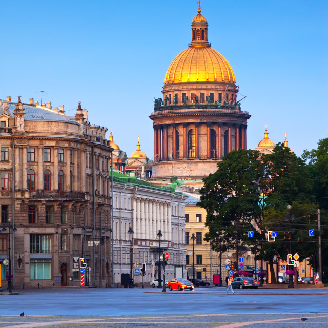 """Saint Isaac's Cathedral in Saint Petersburg"" stock image"