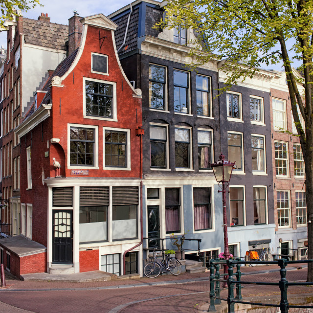 """Dutch Style Traditional Houses in Amsterdam"" stock image"