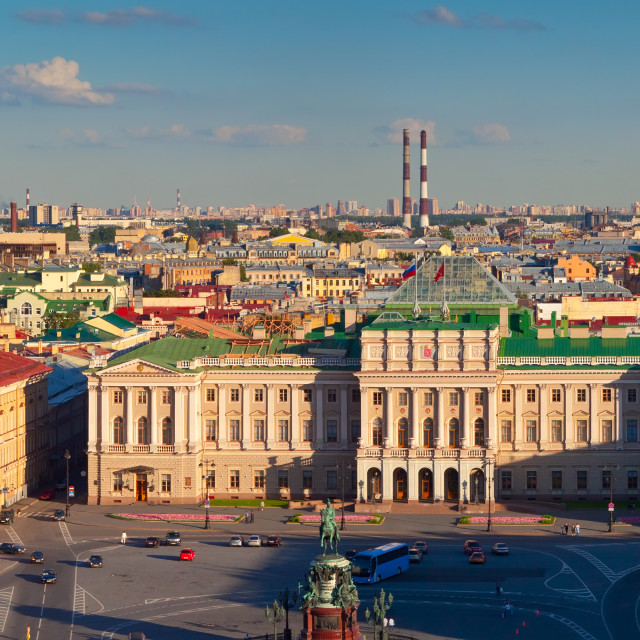 """view of from Saint Isaac's Cathedral. St. Petersburg"" stock image"