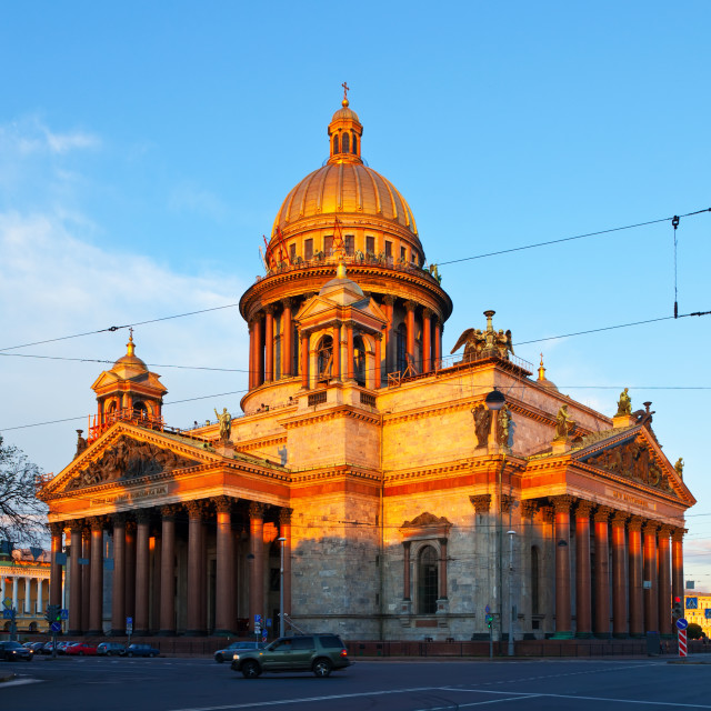 """St. Isaac's Cathedral in summer"" stock image"