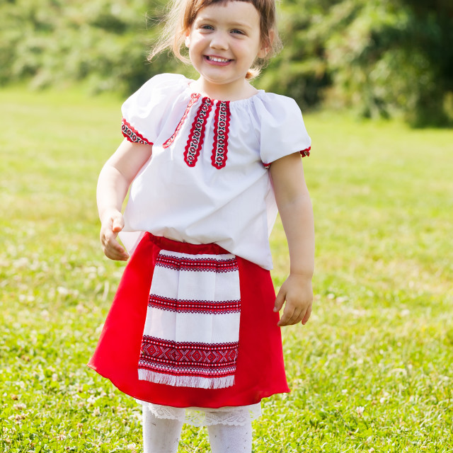 """""""girl in russian folk clothes"""" stock image"""