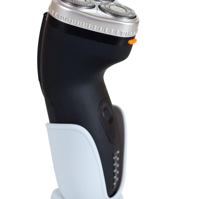 """electric razor. Isolated over white"" stock image"