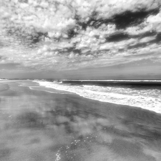 """Druridge Bay, Northumbria"" stock image"