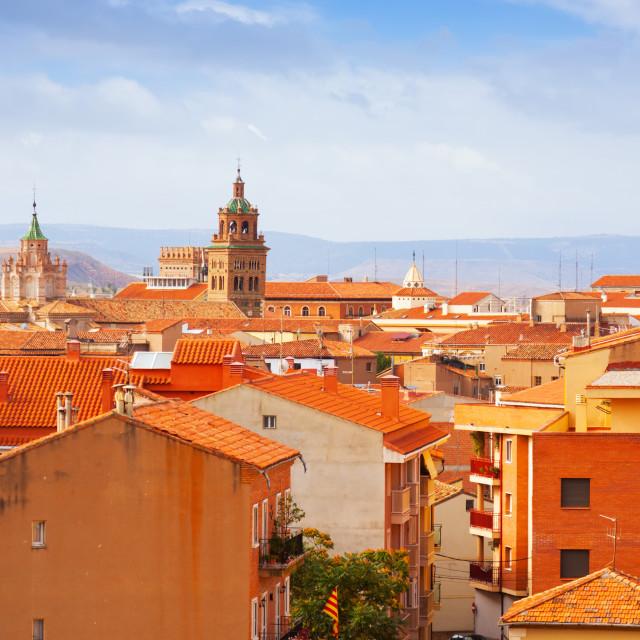 """Roofs of Teruel"" stock image"