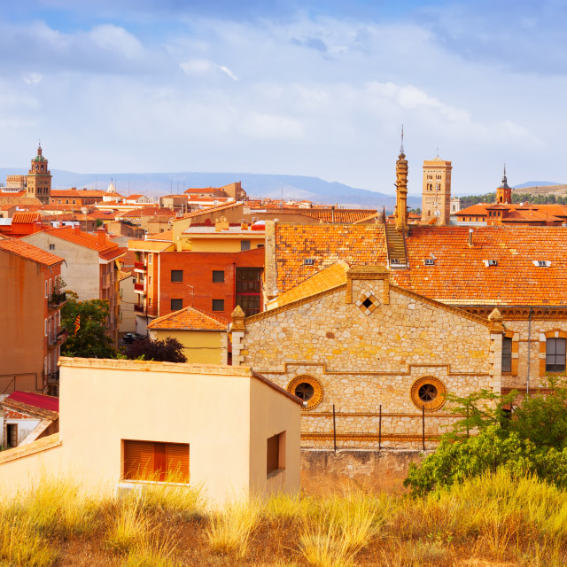 """""""view of Teruel from hill"""" stock image"""