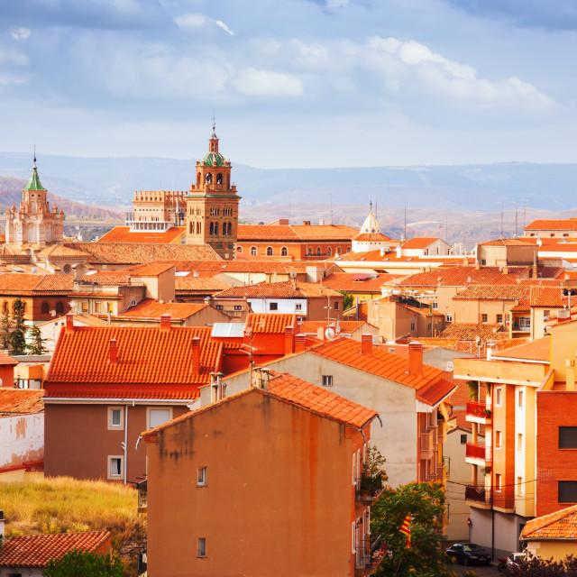 """""""Teruel in summer. Aragon"""" stock image"""