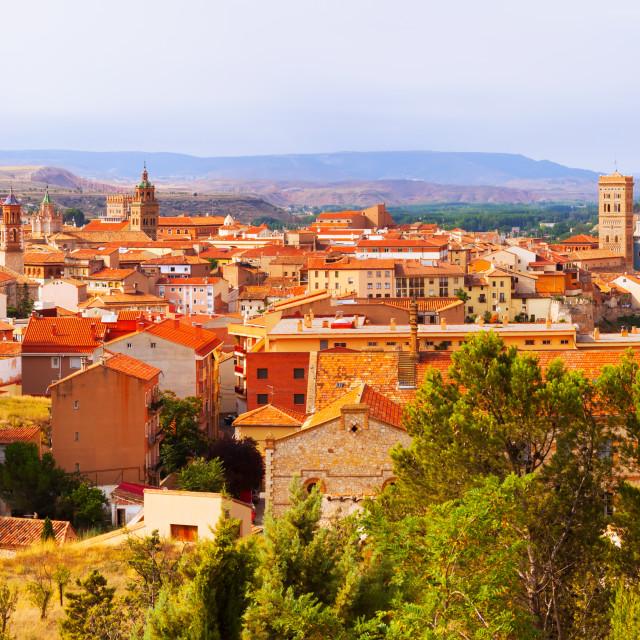"""""""Panoramic day view of Teruel"""" stock image"""
