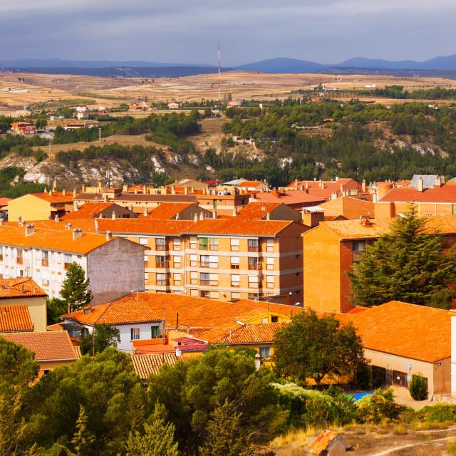"""Ordinary spanish town. Teruel, Aragon"" stock image"