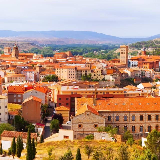 """panorama of Teruel with landmarks"" stock image"