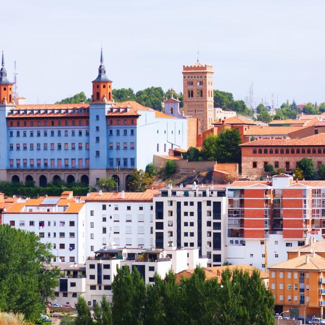 """view of Teruel. Spain"" stock image"