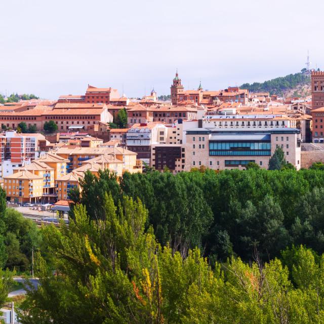 """""""Panorama of Teruel. Aragon, Spain"""" stock image"""