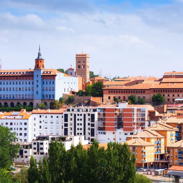 """Top view of Teruel in summer day"" stock image"