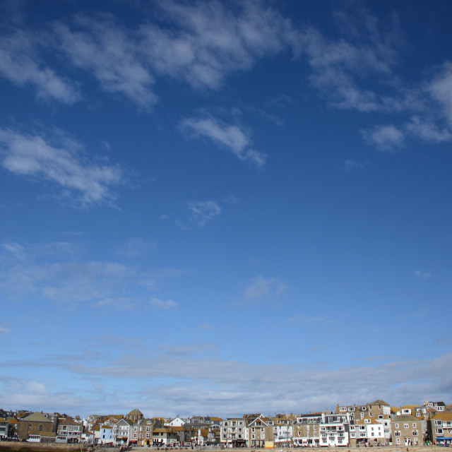 """Big Skies in St. Ives"" stock image"