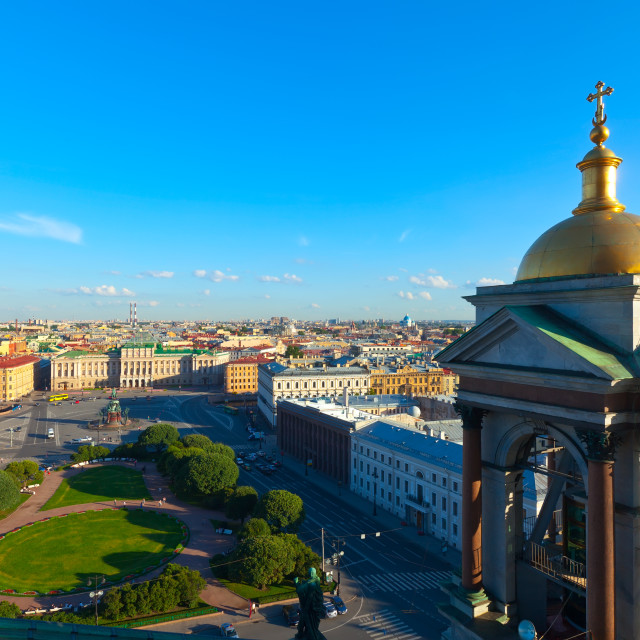 """Top view of city from Saint Isaac's Cathedral"" stock image"