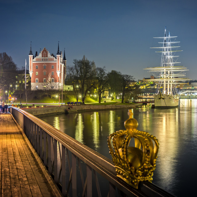 """Stockholm by night."" stock image"