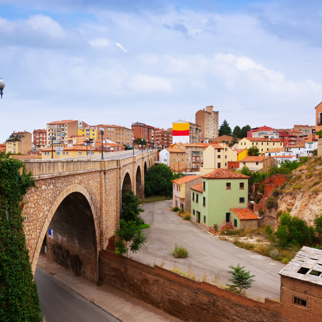 """""""Road and residence district in Teruel"""" stock image"""