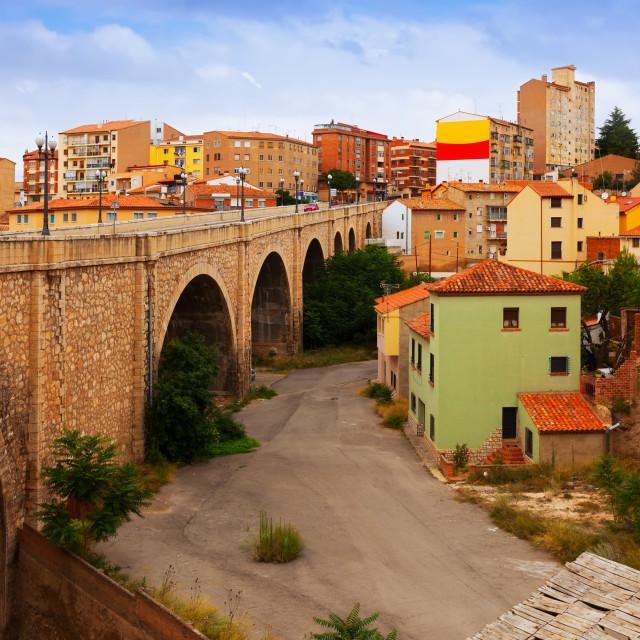 """""""Road bridge in Teruel"""" stock image"""