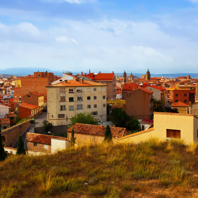 """""""General view of Teruel in summer day"""" stock image"""