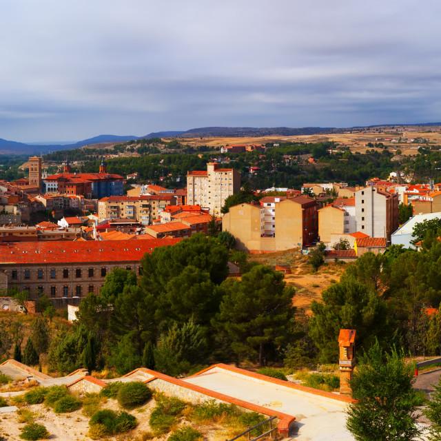 """Panorama of Teruel. Aragon"" stock image"