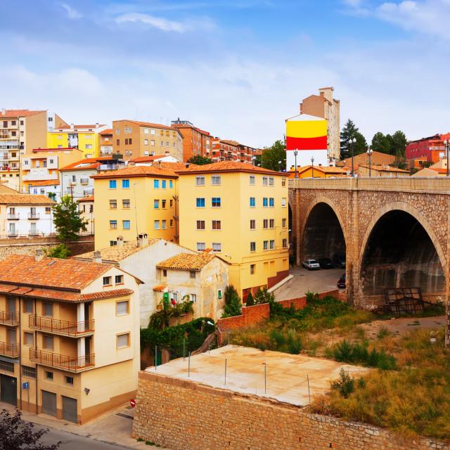 """Viaduct in Teruel"" stock image"