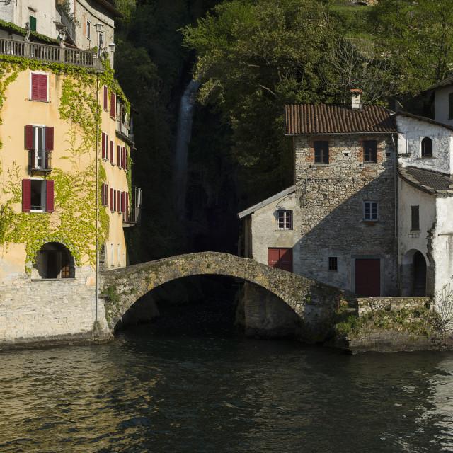 """""""Lake Como,Nesso"""" stock image"""